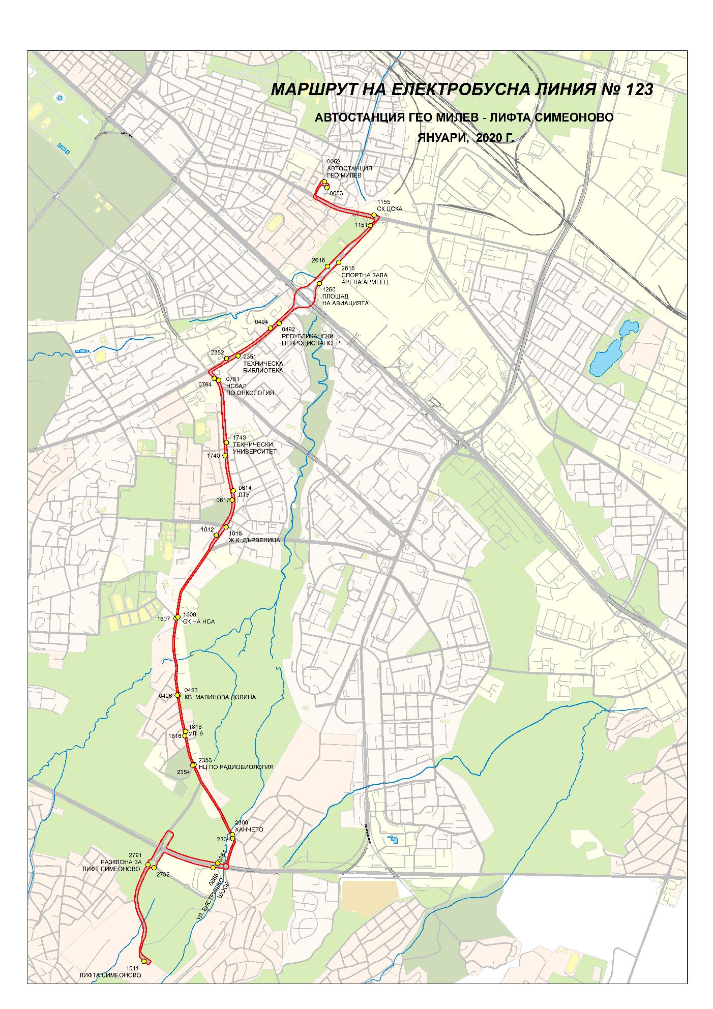 Udlzhavat Marshruta Na Elektrobusna Liniya 123 Do Avtostanciya Geo