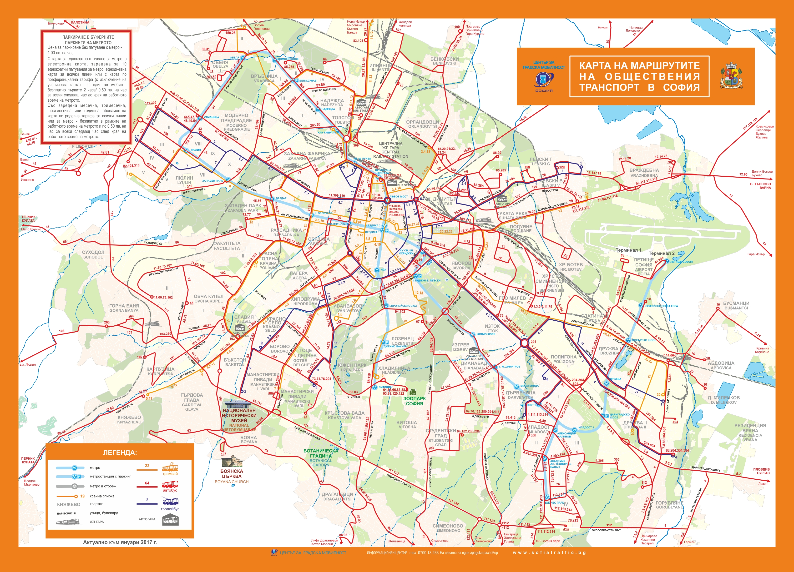 Sofia Transport Map